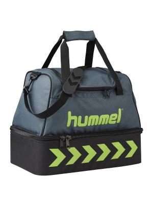 Сумка AUTHENTIC BAG HUMMEL. Цвет: черный,светло-зеленый,серый