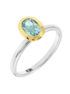 Кольцо BALEX. Цвет: голубой, серебристый