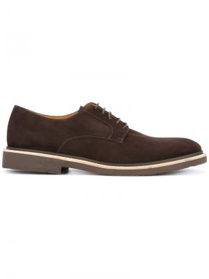 Casual derby shoes Corneliani. Цвет: коричневый