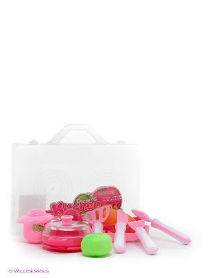 Набор посуды Готовим сами VELD-CO. Цвет: розовый