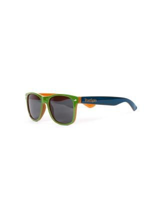 Очки TRUESPIN HONGKONG True Spin. Цвет: зеленый, коричневый, оранжевый, синий