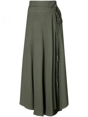 Rosehip wrap skirt Apiece Apart. Цвет: зелёный