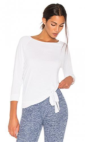 Пуловер с рукавами 3/4 true stripes Beyond Yoga. Цвет: белый