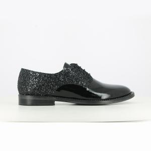 Ботинки-дерби кожаные Domais Exclusivité La Redoute JONAK. Цвет: черный