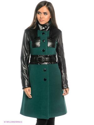 Пальто DOCTOR E. Цвет: зеленый, черный