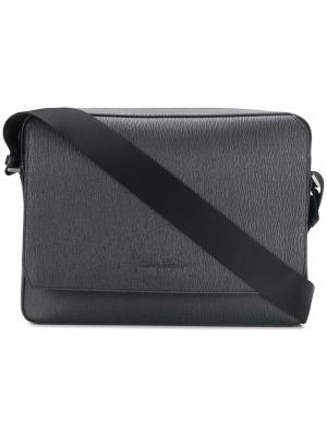 Текстурированная сумка для ноутбука Salvatore Ferragamo. Цвет: серый