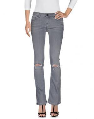 Джинсовые брюки UP ★ JEANS. Цвет: свинцово-серый