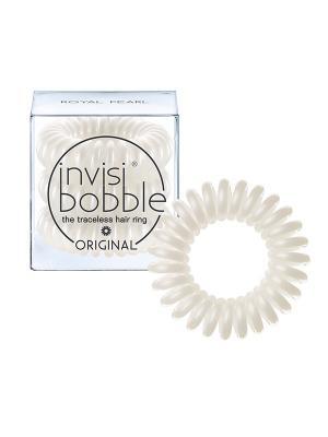 Резинка-браслет для волос invisibobble ORIGINAL Royal Pearl. Цвет: белый
