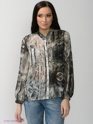 Блузка OBJECT. Цвет: серый, светло-серый