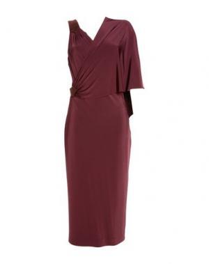 Короткое платье TAMARA MELLON. Цвет: красно-коричневый