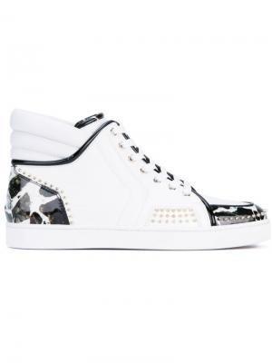 Хайтопы на шнуровке Christian Louboutin. Цвет: белый