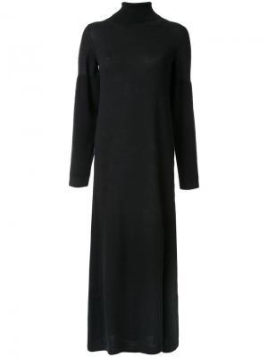 Длинное трикотажное платье Maison Mihara Yasuhiro. Цвет: чёрный