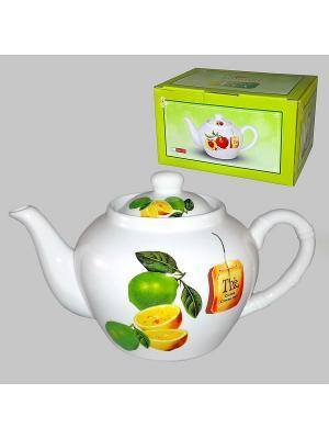 Чайник ЦИТРОН 600 мл LARANGE. Цвет: белый