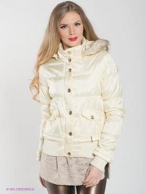 Куртка Lynne. Цвет: кремовый