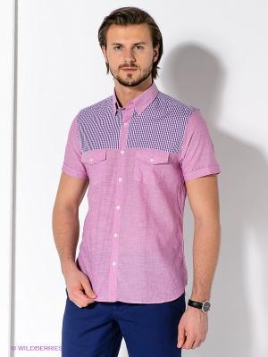 Рубашка MONDIGO. Цвет: розовый, сиреневый