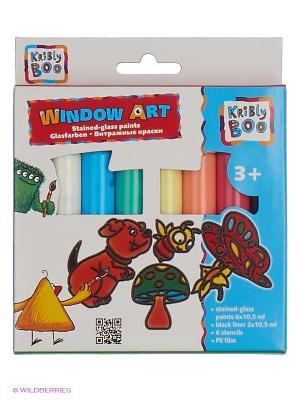 Набор Window Art с трафаретами Kribly Boo. Цвет: красный, оранжевый, желтый, белый, зеленый