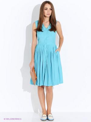 Платье Oodji. Цвет: бирюзовый