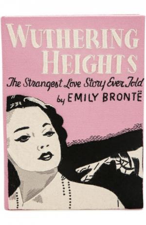 Клатч в виде книги с аппликацией Wuthering Heights Olympia Le-Tan. Цвет: розовый