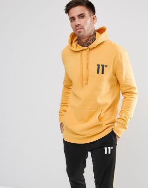 11 Degrees Худи желтого цвета. Цвет: желтый
