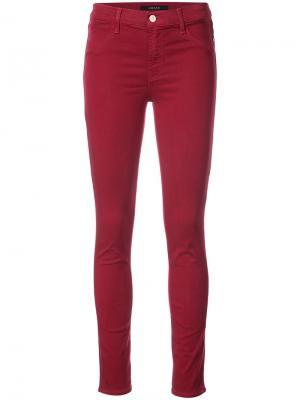 Эластичные джинсы скинни J Brand. Цвет: красный