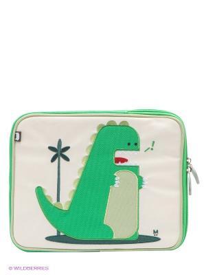 Чехол для планшета Percival - Dino Beatrix NY. Цвет: зеленый, молочный