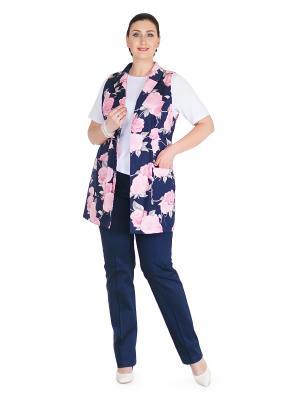 Жакет Darissa Fashion. Цвет: темно-синий, розовый