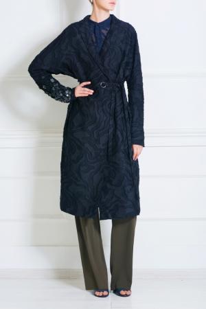 Пальто из шелка и хлопка Cristy Damir Doma. Цвет: черный