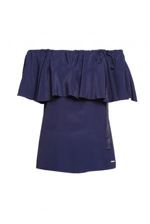 Блуза 186262 Cristina Effe. Цвет: синий