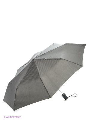 Зонт Isotoner. Цвет: коричневый, черный