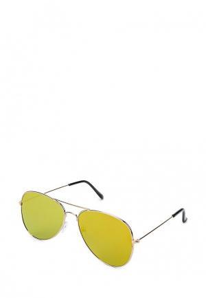 Очки солнцезащитные Piazza Italia. Цвет: золотой