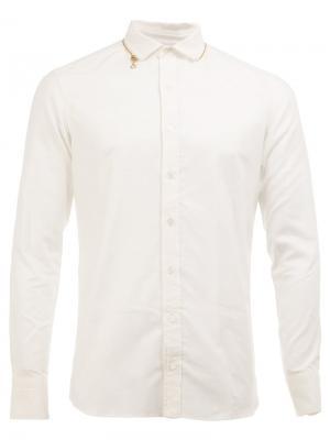Рубашка со срезанным воротником Kolor. Цвет: белый