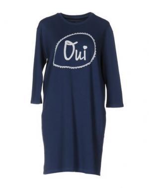 Короткое платье EMPATHIE. Цвет: грифельно-синий