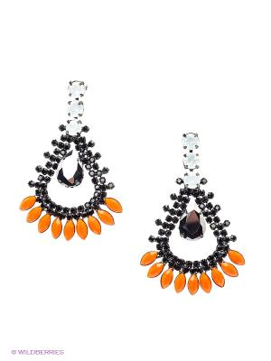 Серьги Kameo-bis. Цвет: черный, серый, оранжевый, белый
