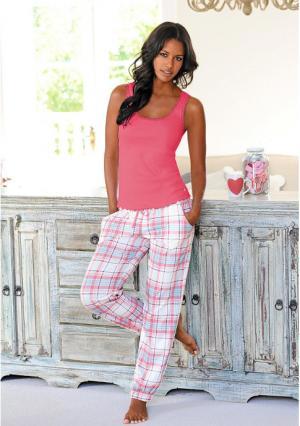 Пижамные брюки Victoria H.I.S.. Цвет: экрю в клетку