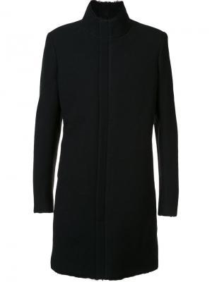 Пальто на молнии Label Under Construction. Цвет: чёрный