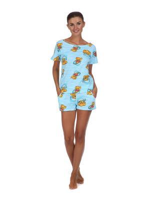 Пижама Веста.. Цвет: голубой