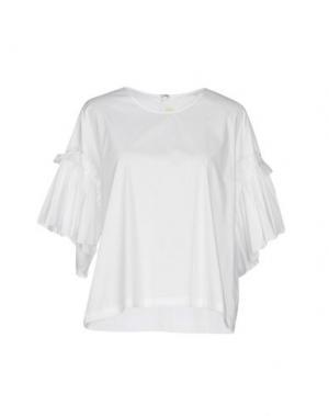 Блузка LA FABRIQUE. Цвет: белый