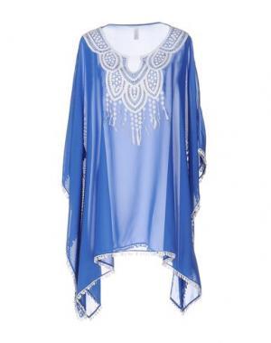 Кафтан SAHA. Цвет: пастельно-синий