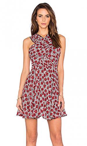 Платье The Kooples. Цвет: красный