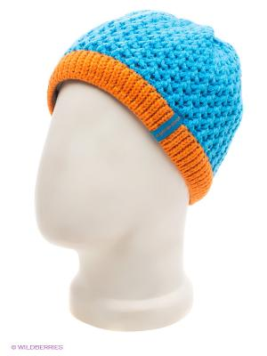 Шапка Doell. Цвет: голубой, оранжевый