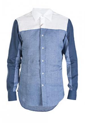 Рубашка BILANCIONI. Цвет: синий