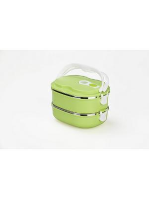 Термо ланч-бокс двойной BENTO BRADEX. Цвет: зеленый