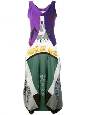 Платье со смешанным принтом Junya Watanabe Comme Des Garçons. Цвет: многоцветный