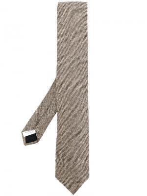Классический галстук Lardini. Цвет: телесный