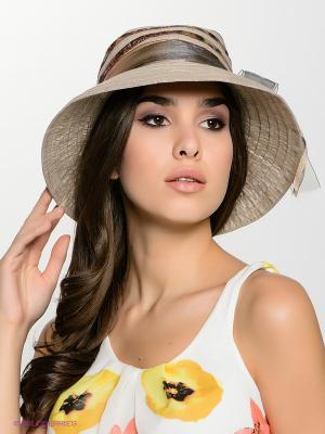 Шляпа FOMAS. Цвет: серый, темно-бежевый