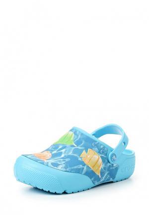 Сабо Crocs. Цвет: голубой