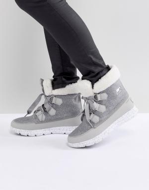 Sorel Серые непромокаемые ботинки Explorer Carnival. Цвет: серый