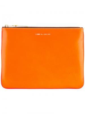Кошелек на молнии Comme Des Garçons Wallet. Цвет: жёлтый и оранжевый