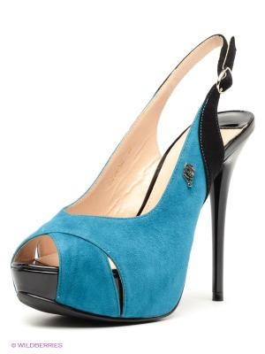 Босоножки Moda Donna. Цвет: синий, черный