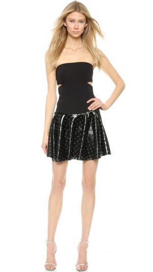 Платье без бретелек с заклепками Jay Ahr. Цвет: черный/черный